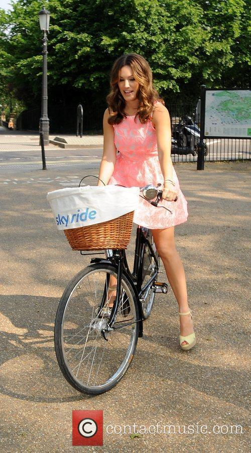 Kelly Brook takes part in the SKY Ride...