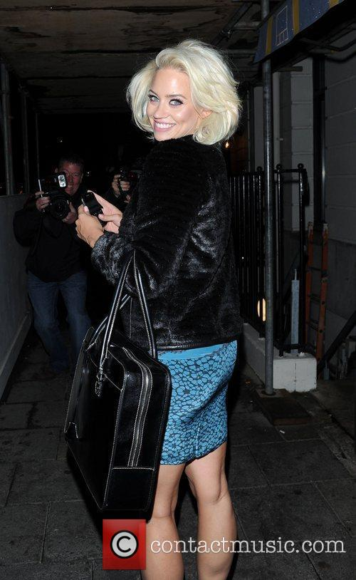 Leaving Little House restaurant in Mayfair