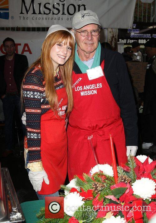 Bella Thorne, Harrison Ford Los Angeles Mission Christmas...
