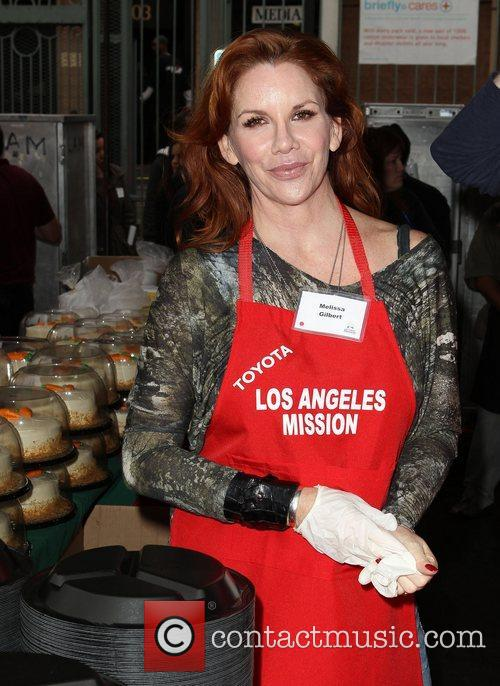 Melissa Gilbert Los Angeles Mission Christmas Eve For...