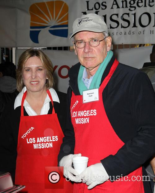 Harrison Ford and Wendy Greuel 2