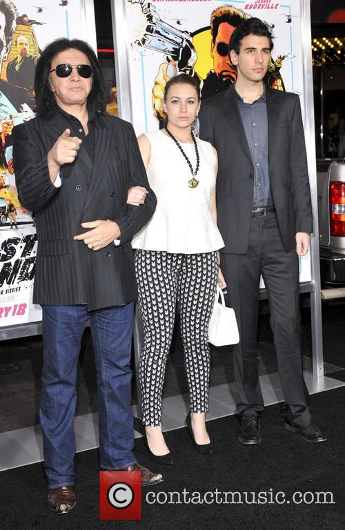 Gene Simmons, Sophie Simmons, Nick Simmons and Grauman's Chinese Theatre 2