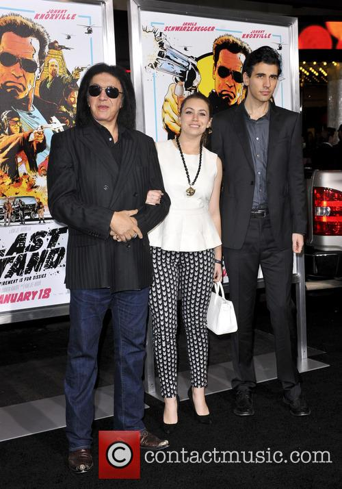 Gene Simmons, Sophie Simmons, Nick Simmons and Grauman's Chinese Theatre 3