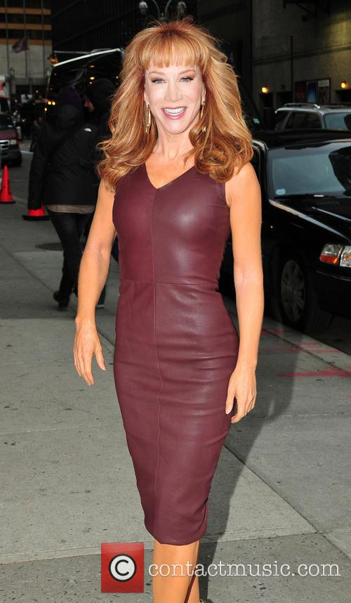 Kathy Griffin arrives at the Ed Sullivan Theater...