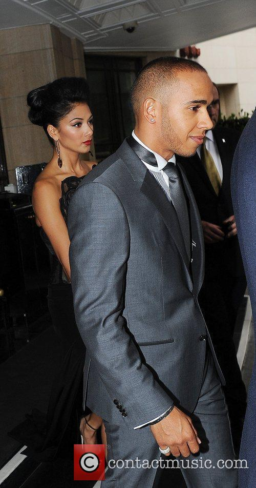 lewis hamilton and nicole scherzinger leaving the 3885796