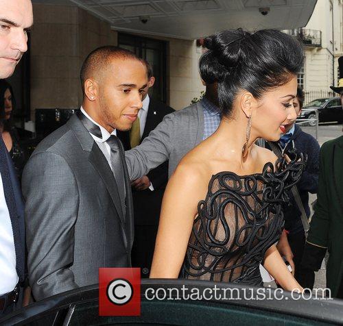 Lewis Hamilton, Nicole Scherzinger and Dorchester Hotel 5