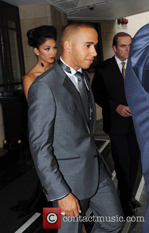 Lewis Hamilton, Nicole Scherzinger and Dorchester Hotel 6