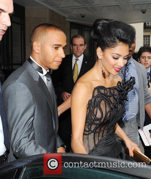 Lewis Hamilton, Nicole Scherzinger and Dorchester Hotel 1
