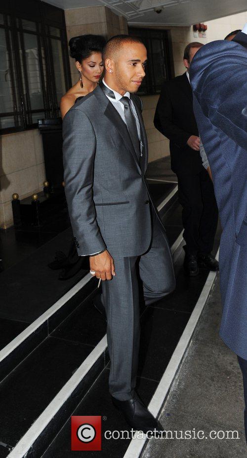Lewis Hamilton, Nicole Scherzinger and Dorchester Hotel 7