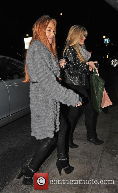 Lindsey Lohan Lindsey Lohan heads back to the...