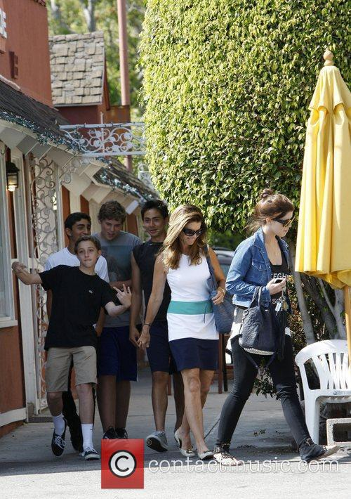 Maria Shriver out and about with her children...