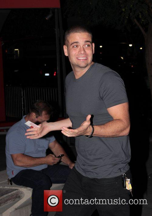 Mark Salling arrives to watch Madonna in concert...