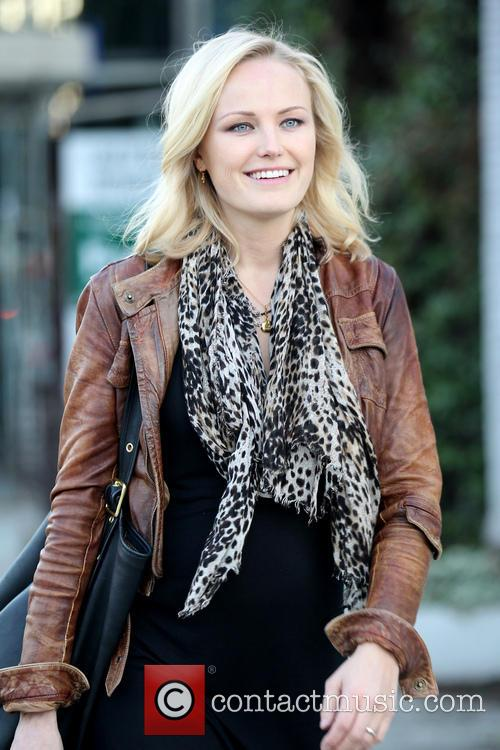 Pregnant Malin Akerman shopping at Kitson on Melrose...
