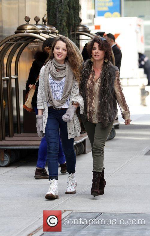 Leaving their Soho hotel in lower Manhattan