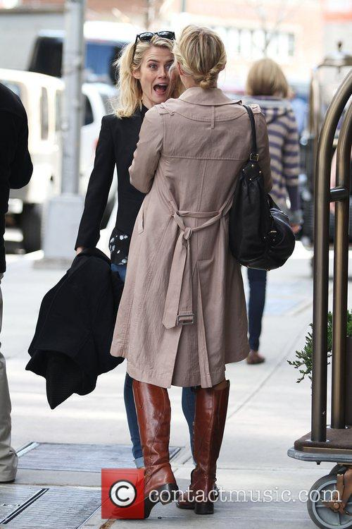 rachael taylor meets a friend as she 3811321