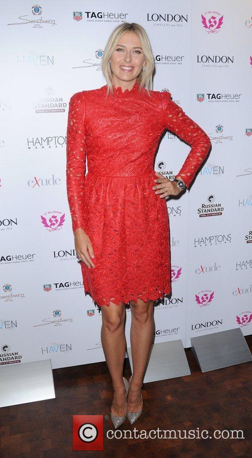 Maria Sharapova  Hamptons Magazine celebrate with cover...