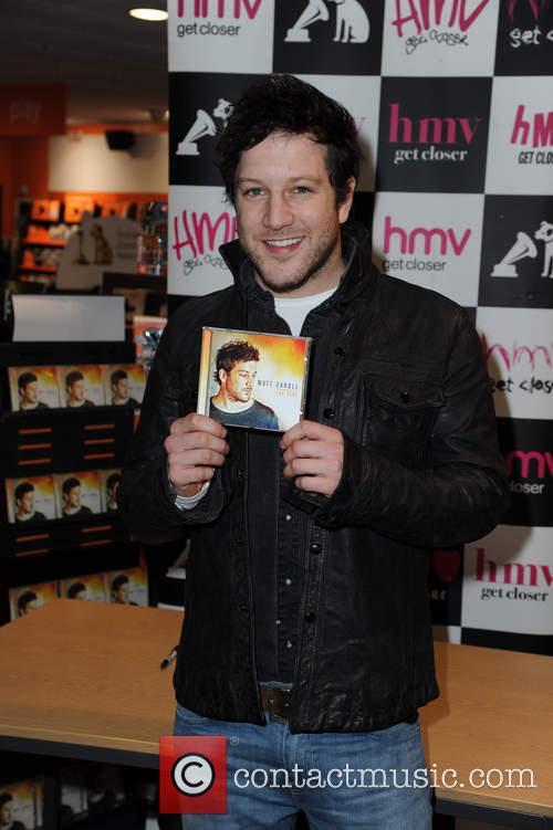 Matt Cardle signs copies of his latest album...