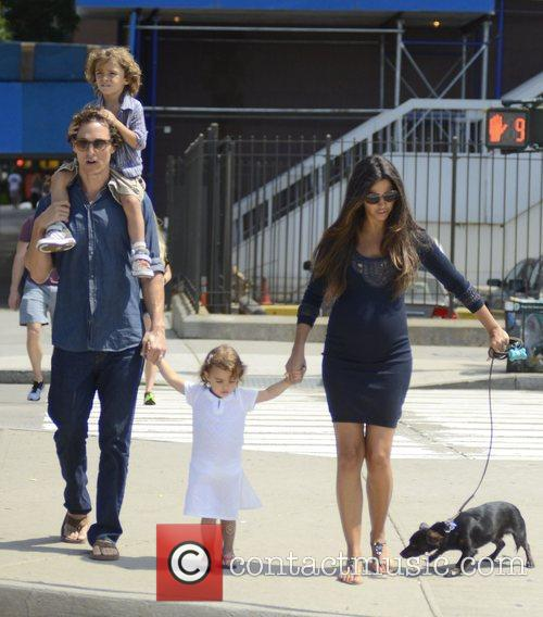 Matthew Mccounaghy, wife Camila Alves, and their children...