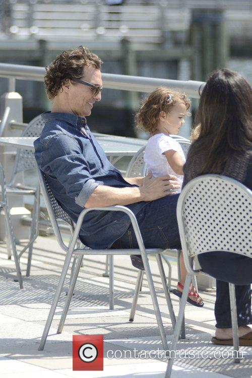 Matthew Mccounaghy, wife Camila Alves, and their daughter...