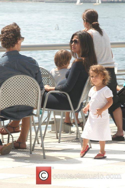 Matthew McCounaghy, wife Camila Alves, and their children...
