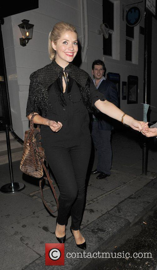 Holly Willoughby leaving The Brompton Club. London, England