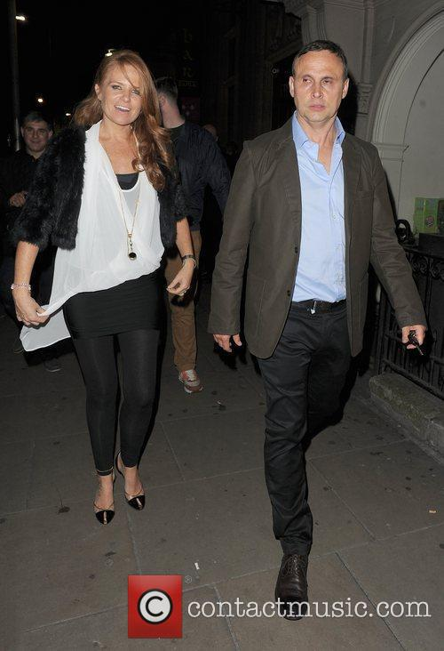 Patsy Palmer out and about in Mayfair. London,...