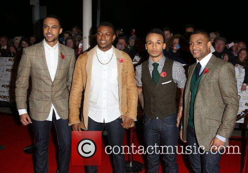 Marvin Humes, Jonathan, Gill, Aston Merrygold, Oritse Williams and Mobo 1