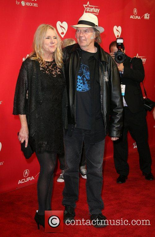 Neil Young and Pegi Young 2012 MusiCares Person...