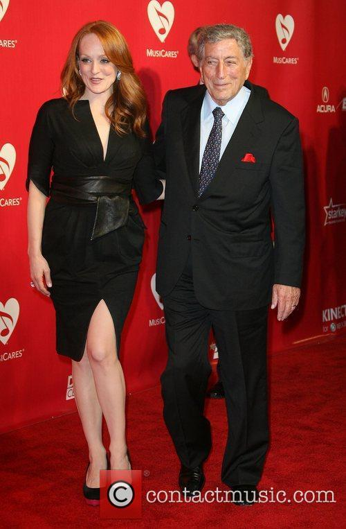 Tony Bennett and Antonia Bennett 2012 MusiCares Person...