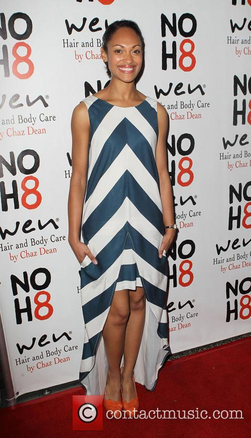 Cynthia Addai-Robinson NOH8 Celebrity Studded 4th Anniversary Party...