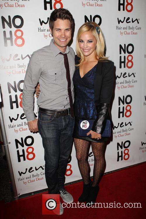 Drew Seeley; Amy Paffrath NOH8 Celebrity Studded 4th...