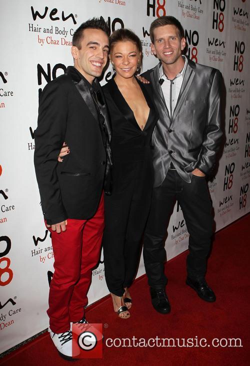 Jeff Parshley; LeAnn Rimes; Adam Bouska NOH8 Celebrity...