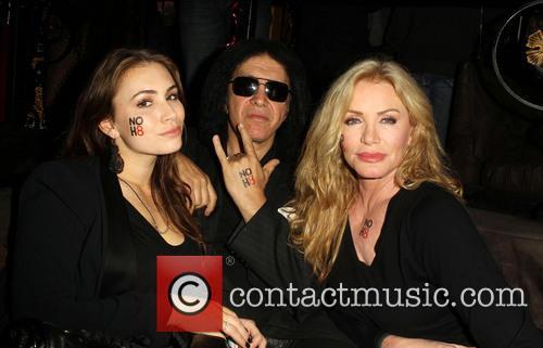 Sophie Simmons; Gene Simmons; Shannon Tweed NOH8 Celebrity...