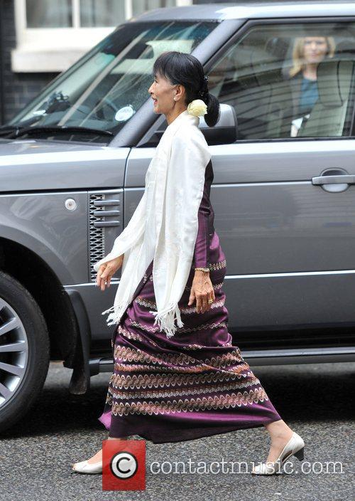 Burmese opposition politician Aung San Suu Kyi arrives...
