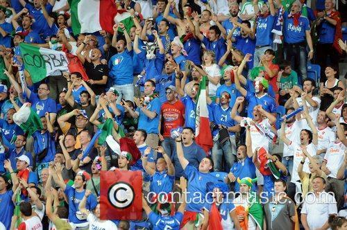 Italian Fans during the European Championship Group C...
