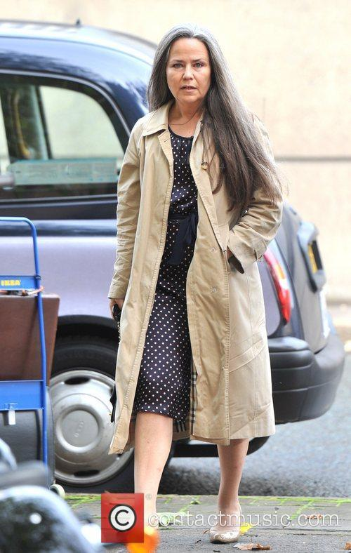 Koo Stark appears at Hammersmith Magistrates' Court charged...
