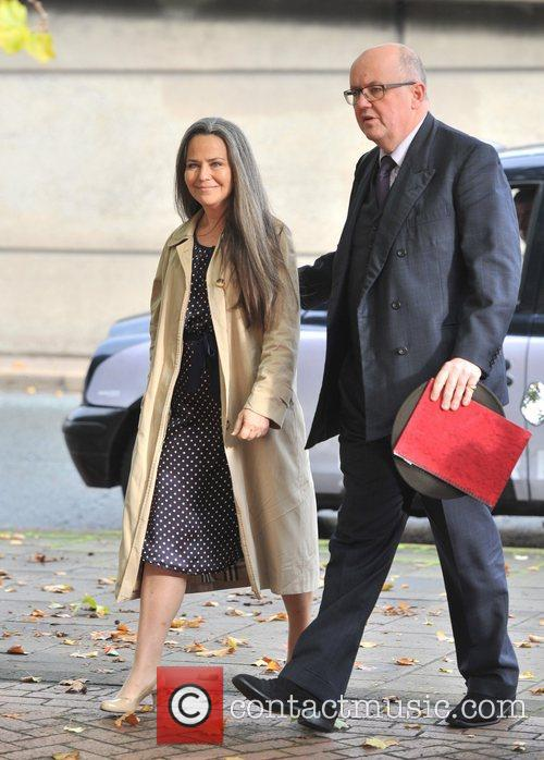 Koo Stark (L) appears at Hammersmith Magistrates' Court...