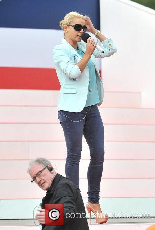 Katherine Jenkins rehearses ahead of the 2012 Olympic...