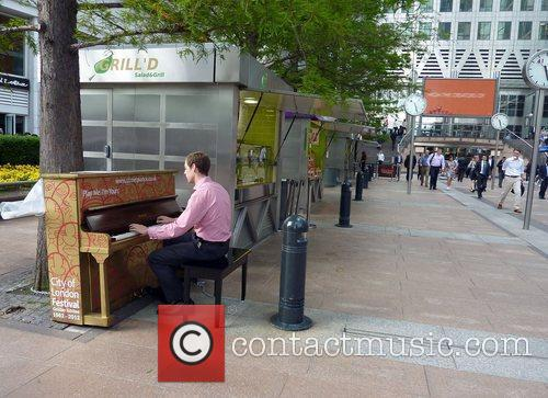 For the nest three weeks, 30 pianos will...