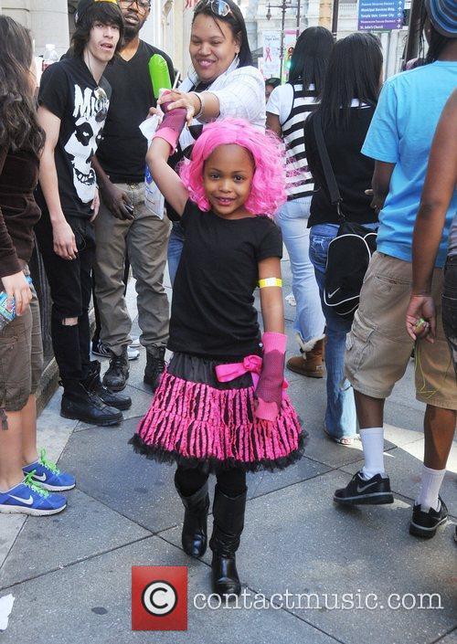 A young Nicki Minaj fan attends a album...