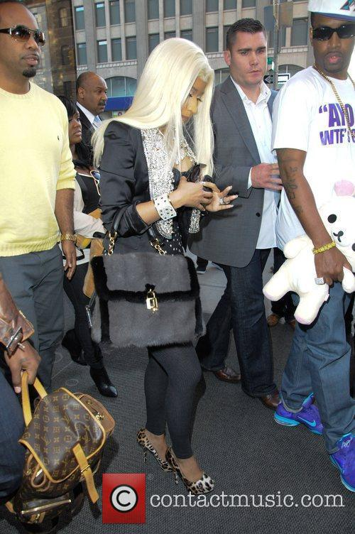 Nicky Minaj leaving her downtown hotel in Manhattan...
