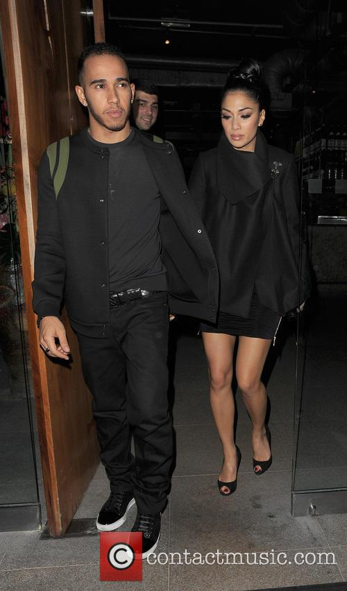 Nicole Scherzinger, Lewis Hamilton, Zuma, Knightsbridge, London and England 16