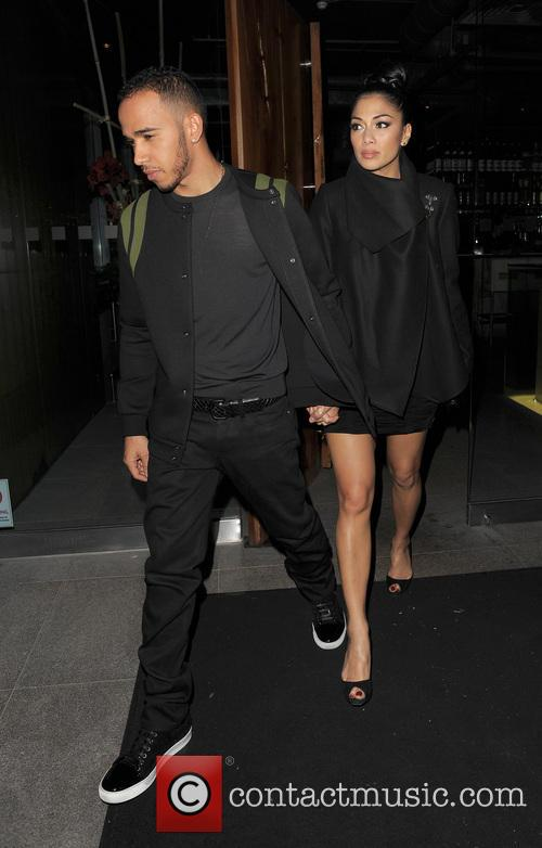 Nicole Scherzinger, Lewis Hamilton, Zuma, Knightsbridge, London and England 15