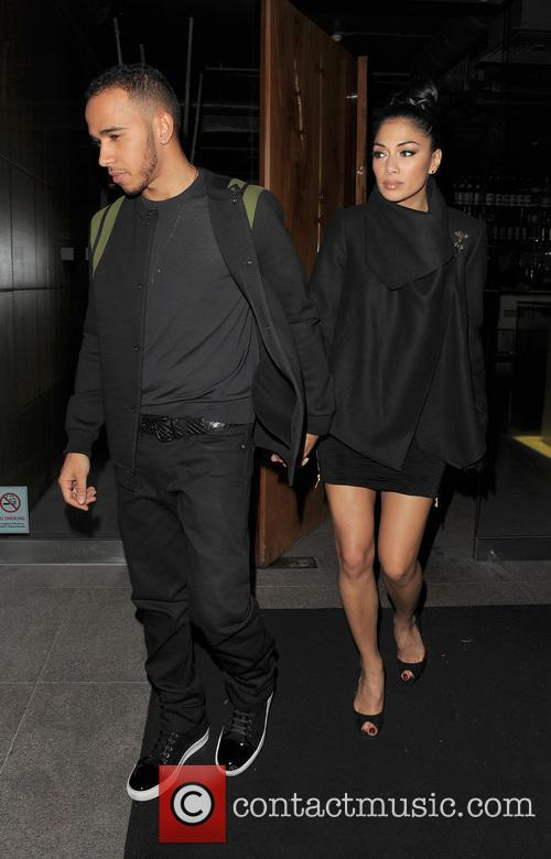 Nicole Scherzinger, Lewis Hamilton, Zuma, Knightsbridge, London and England 14