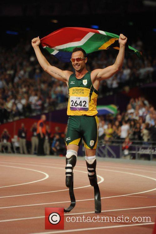 Oscar Pistorius (South Africa) wins Gold Men's 400m...