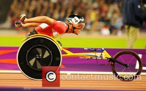 Marcel Hug (SUI) in action Men's 400m T54...