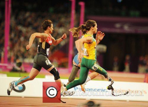 Martina Caironi (ITA) sets a new world record...