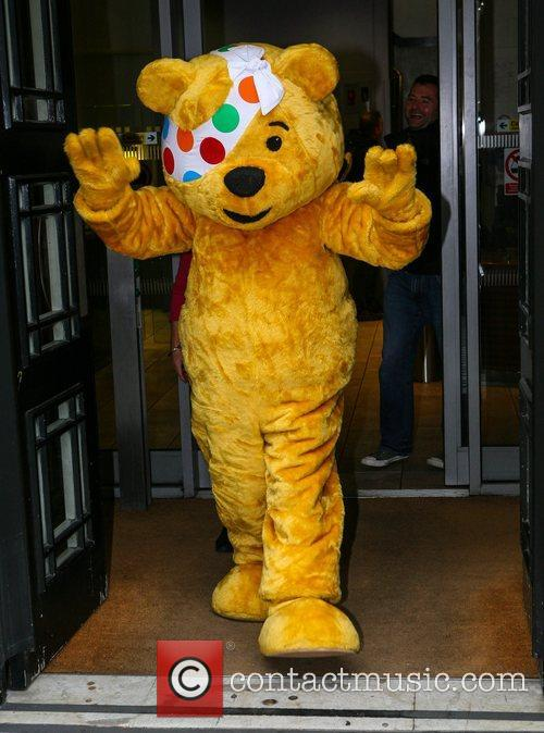 Pudsey Bear  outside the BBC Radio 2...
