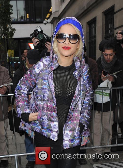 Celebrities arriving at the BBC 2 Radio Studios...