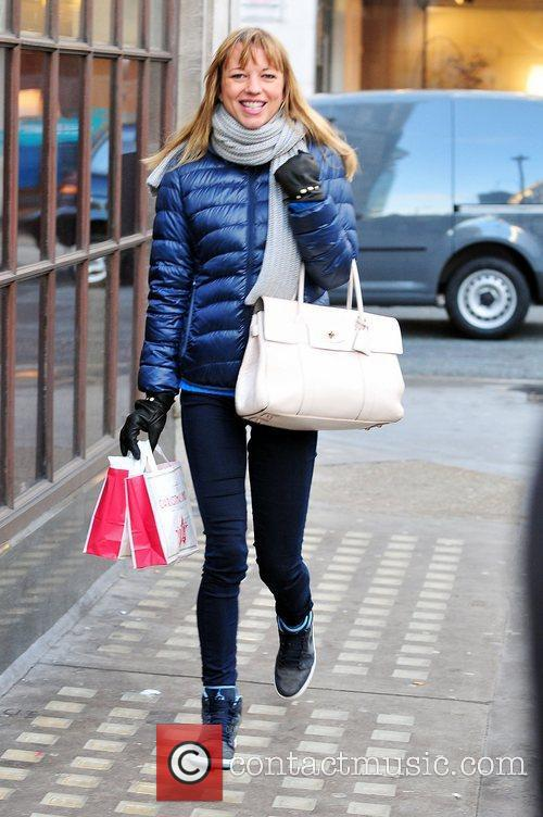 Sara Cox arriving at the BBC Radio One...